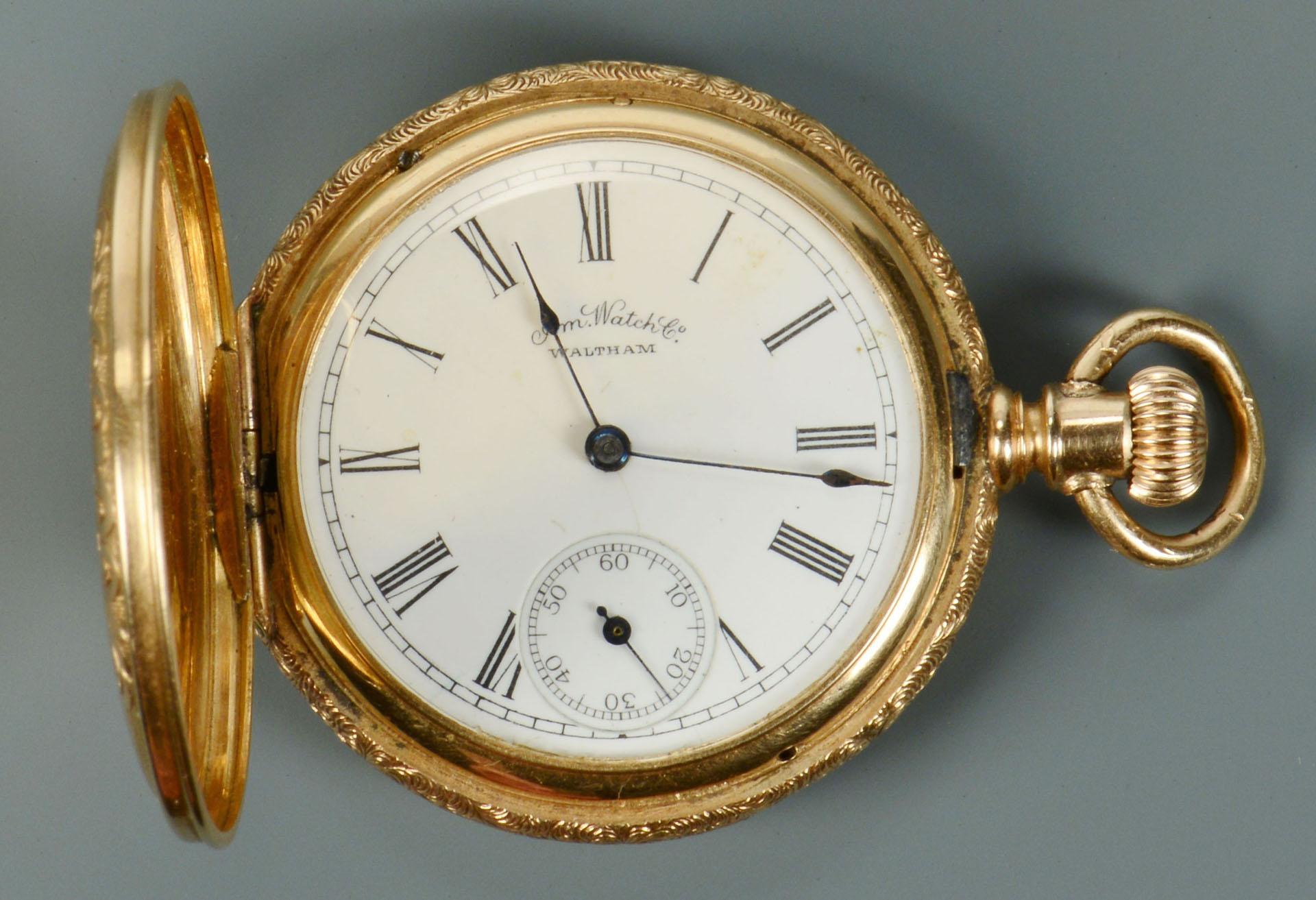 Lot 314 14k Ladies Waltham Pocket Watch