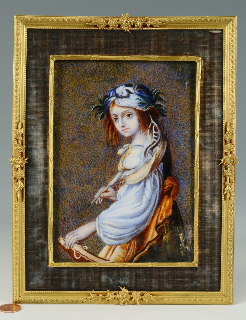 Lot 31: Small European Watercolor Portrait on Ivory