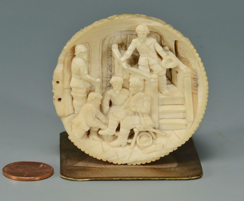 European Carved Ivory Sphere