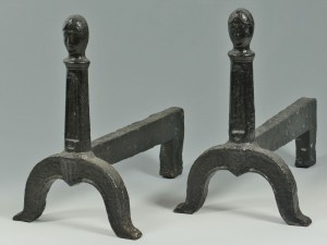 Lot 324: Shenandoah Valley, Virginia Figural Andirons