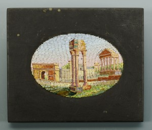 Lot 32: Micro Mosaic Miniature of Roman Ruins