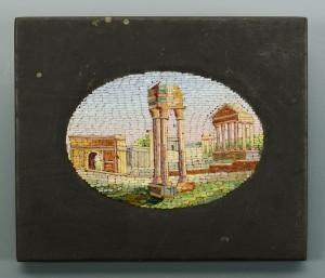 Lot 32: Micro Mosaic Miniature of Roman Ruins