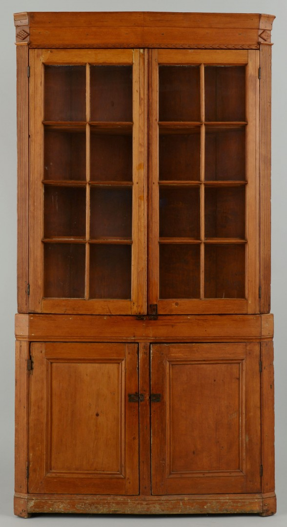 Lot 331: Turkey Breast Corner Cupboard