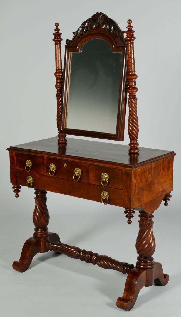 Lot 338: Classical Mahogany Dressing Table