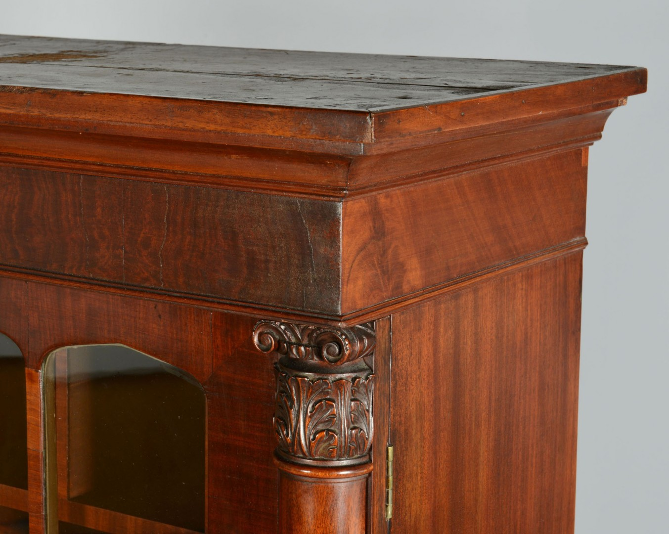 Lot 339: Classical Bookcase and Writing Table with Birdseye