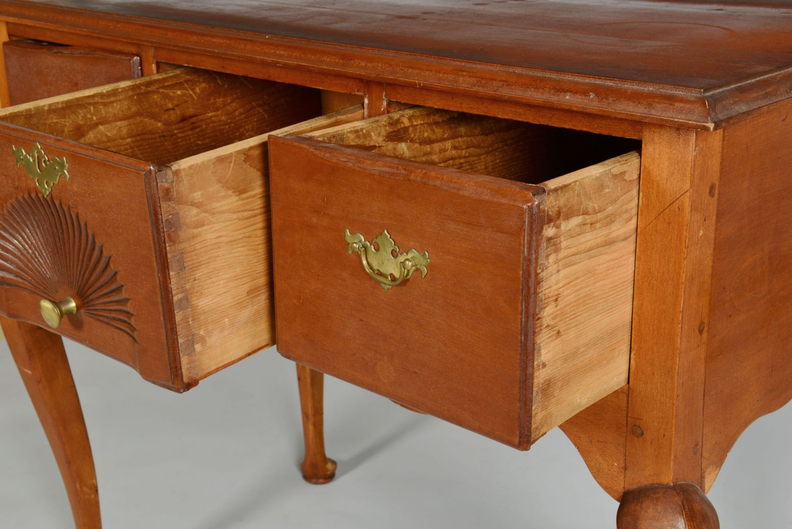 Lot 340: 18th century cherry lowboy or dressing table