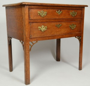 Lot 343: English Chippendale 2 drawer server, 18th cent.