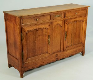 Lot 345: Louis XV French Provincial Oak Sideboard