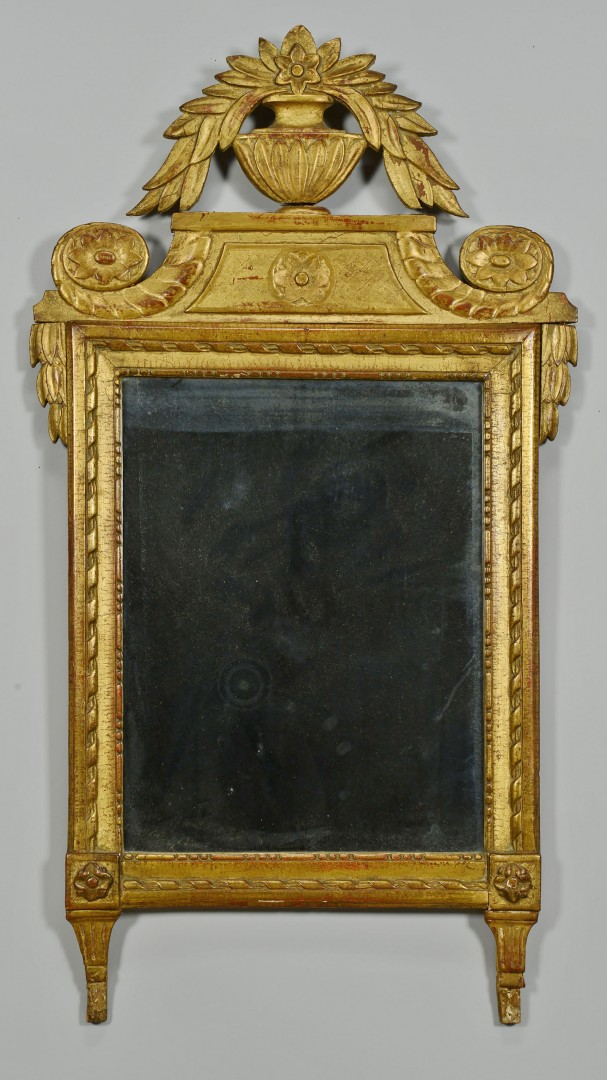 Lot 353: Neoclassical style Gilt Mirror