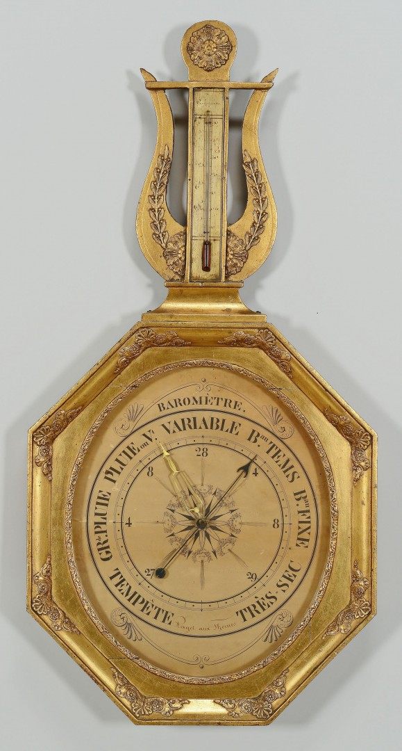 Lot 354: French 19th c. Barometer