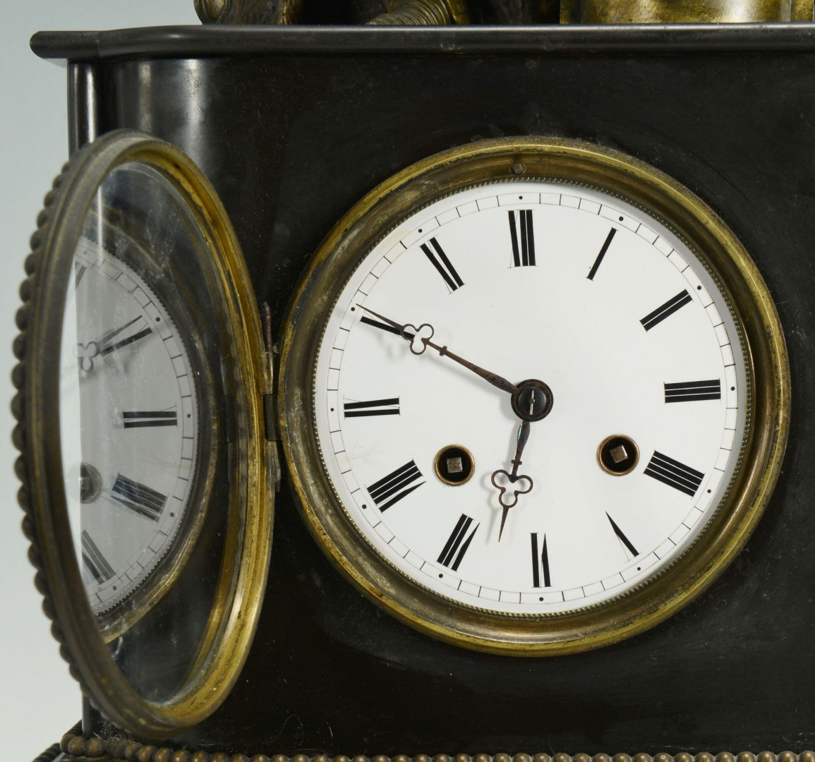 French Slate Mantel Figural Clock