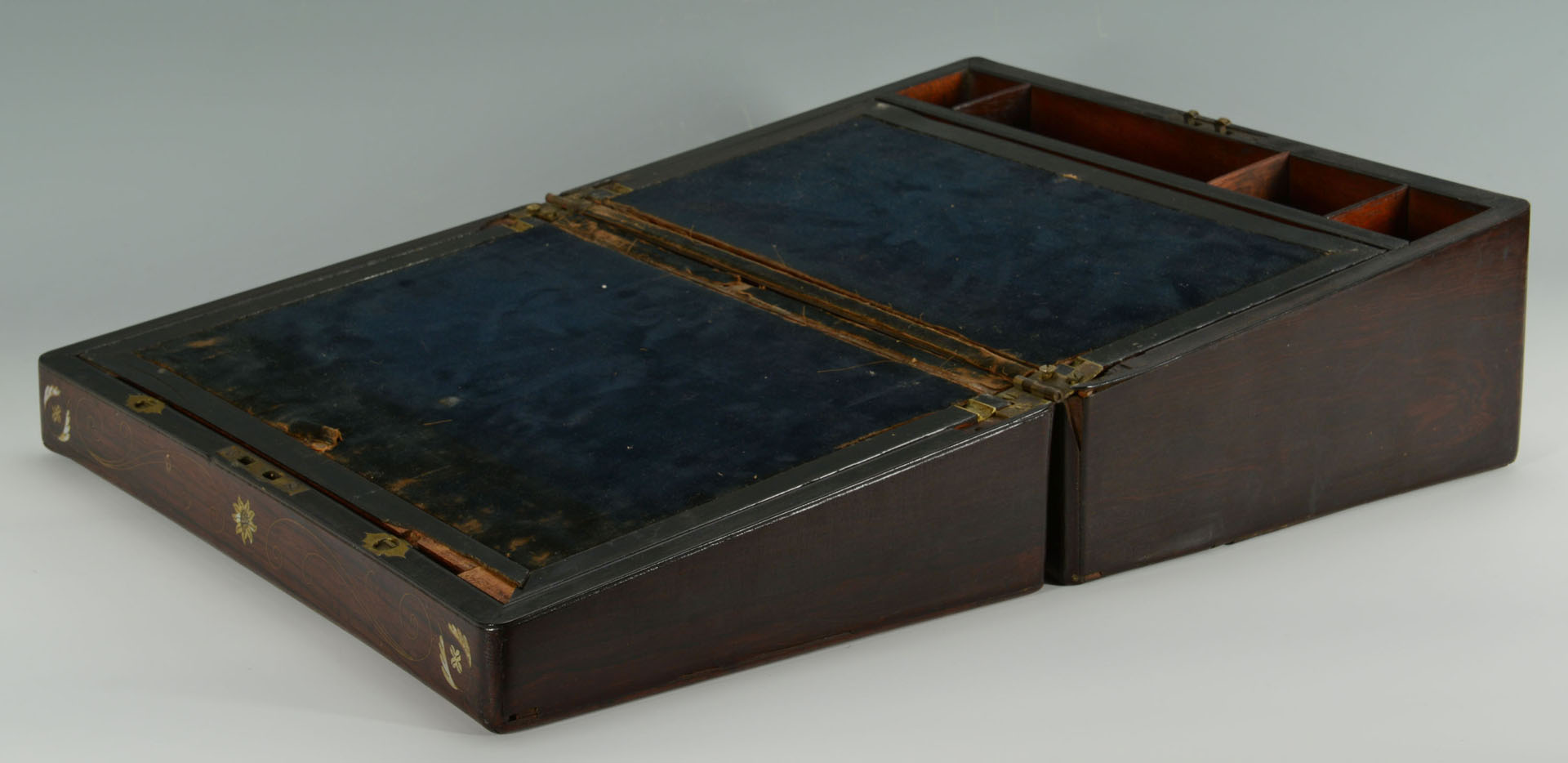 Rosewood and Mother of Pearl Inlay Lap Desk
