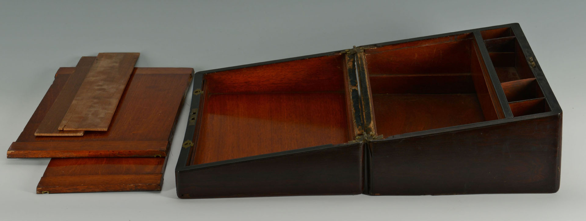 Lot 358: Rosewood and Mother of Pearl Inlay Lap Desk