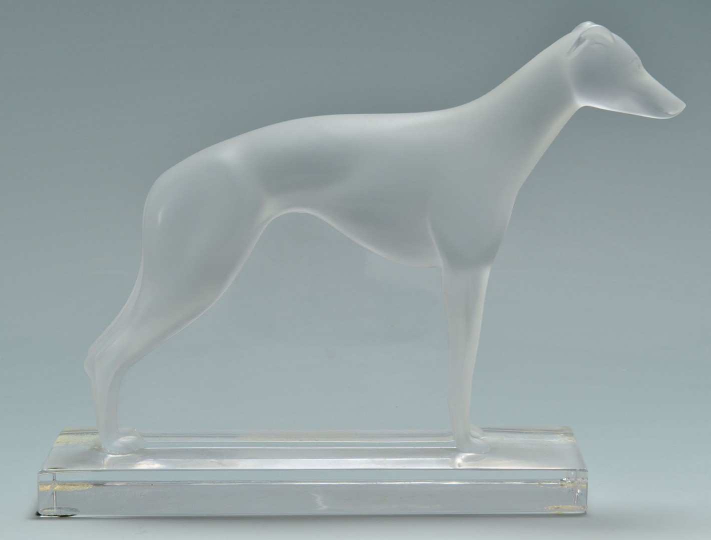 Lalique French Crystal Greyhound