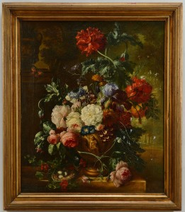 Lot 35: Dutch School Still Life Painting, oil on c