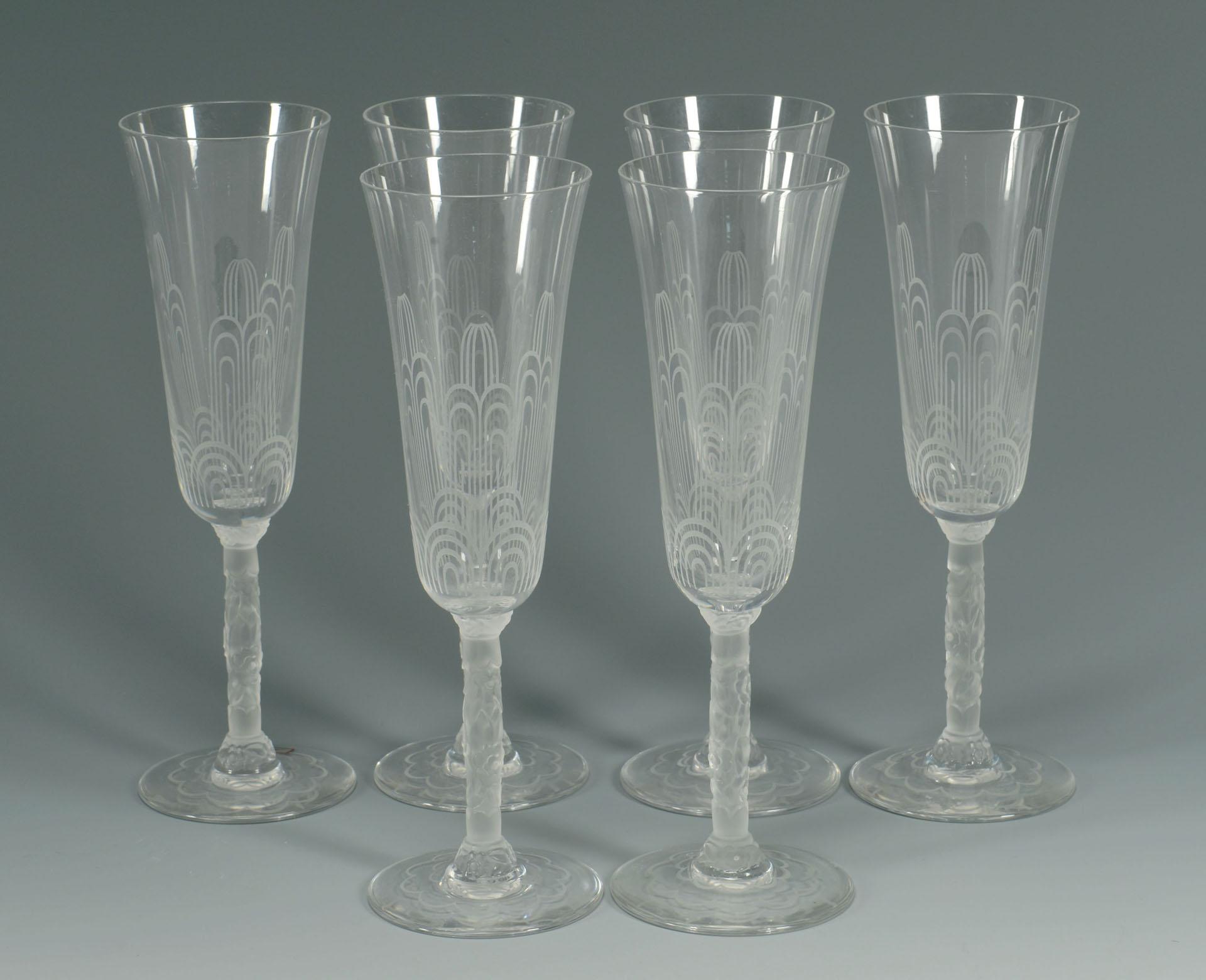 Set of 6 baccarat crystal champagne glasses - Baccarat stemware ...