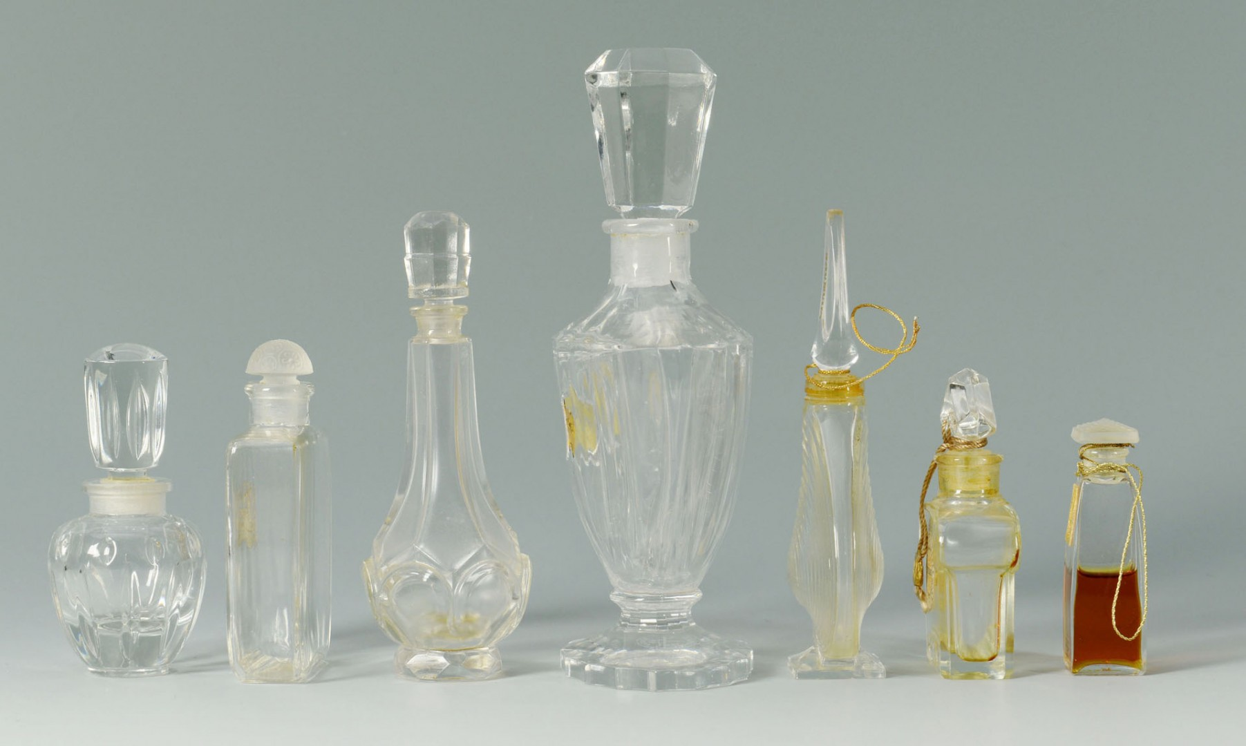 7 Vintage Perfume Bottles inc. Baccarat for Guerla