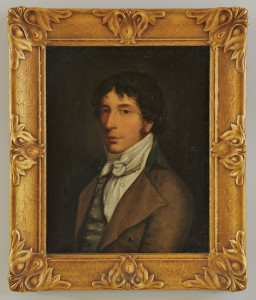Lot 372: 19th c. Continental School, portrait of gentleman