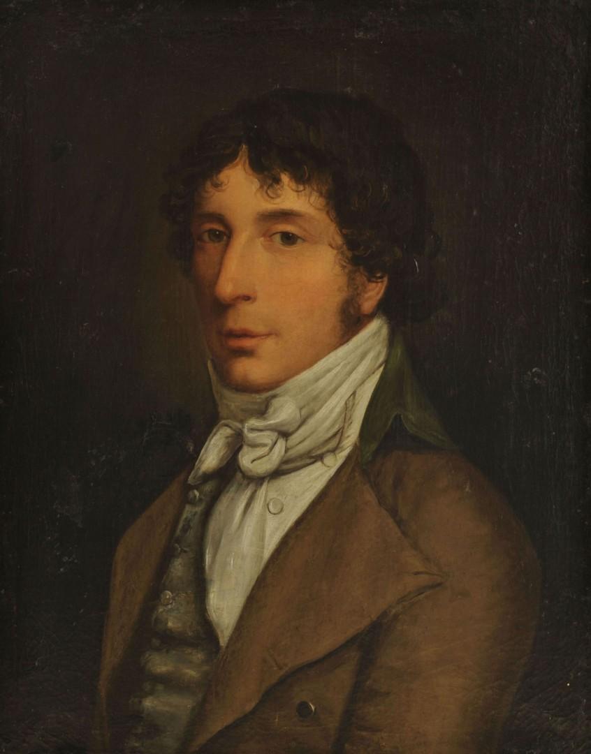 Lot 372: 19th c. Continental School, portrait of gentleman