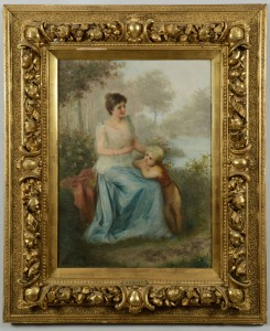 Lot 374: Oil on Canvas, Victorian Genre Scene