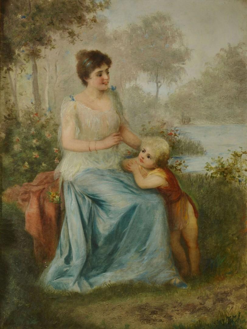 Oil on Canvas, Victorian Genre Scene