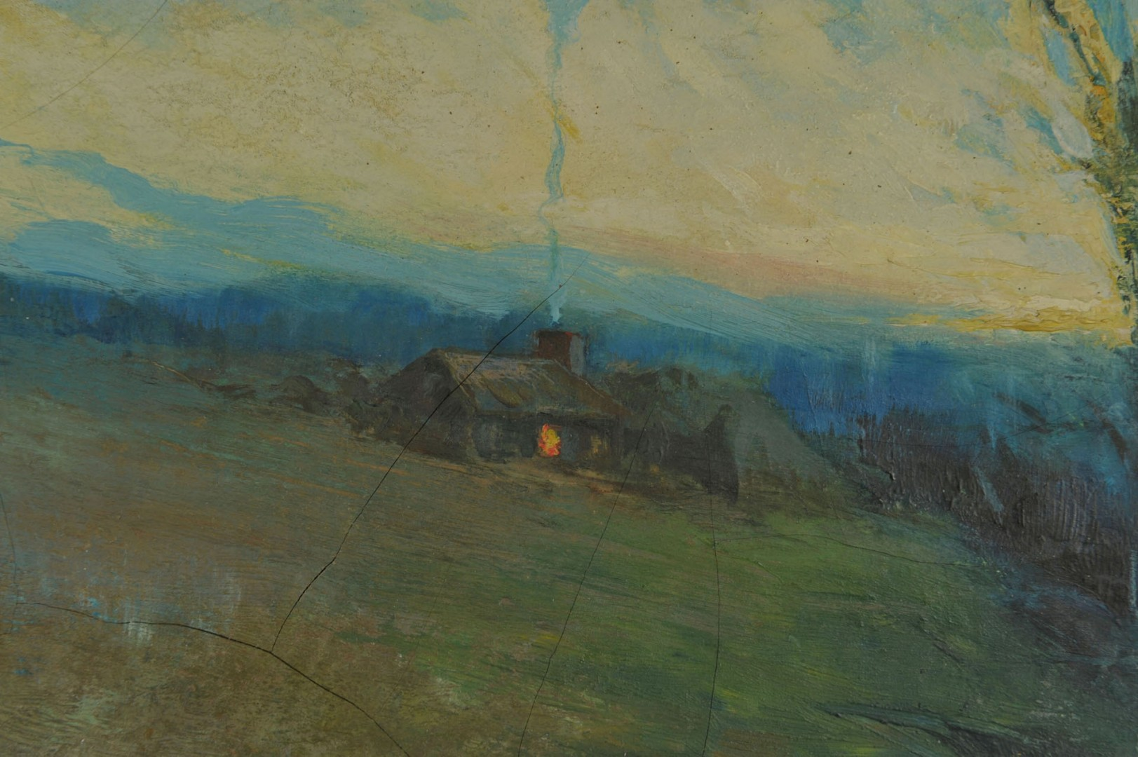 Oil on canvas Landscape of Homestead