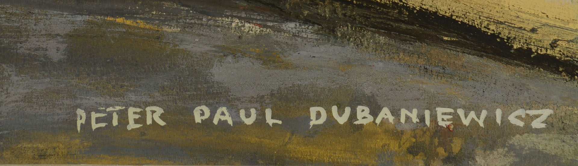 Lot 376: Paul Dubaniewicz Oil on Board