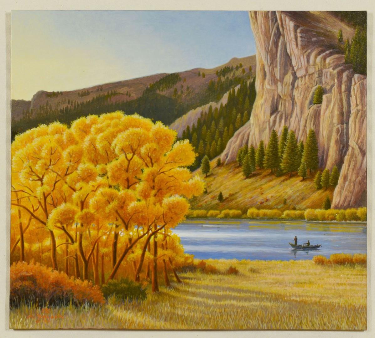 Monte Dolack, acrylic, Missouri River Gold
