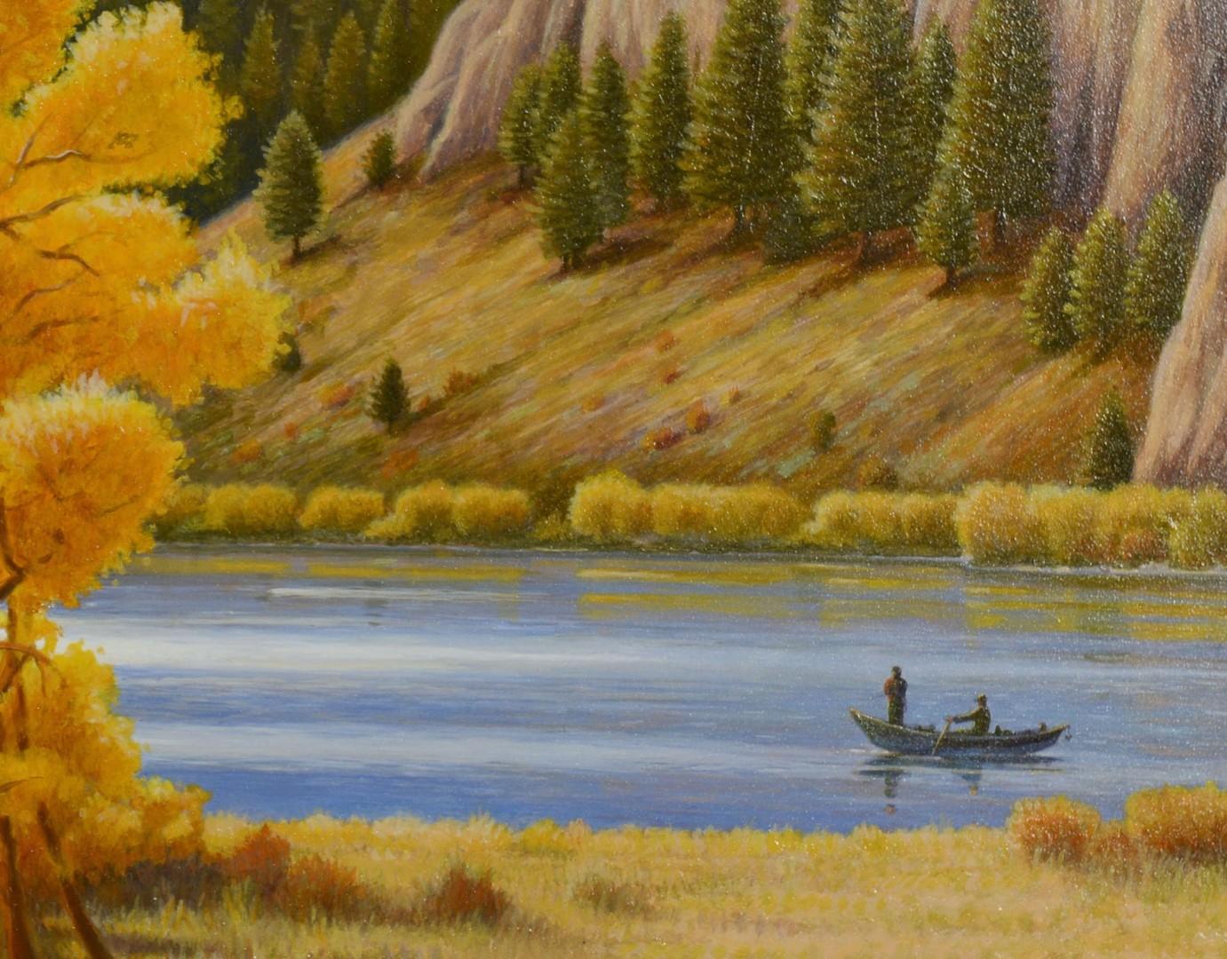 Lot 379: Monte Dolack, acrylic, Missouri River Gold