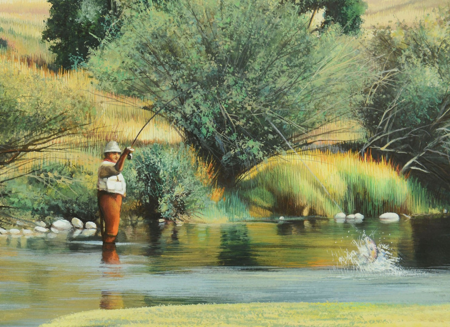 Shirley Cleary w/c Fly Fisherman