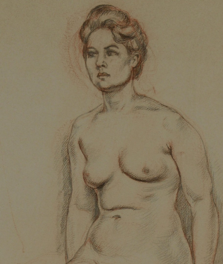 French School Nude  Drawing