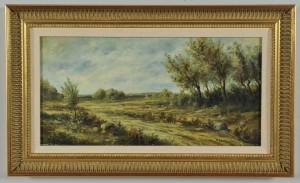 Lot 384: Paul Charbonnier oil on board landscape