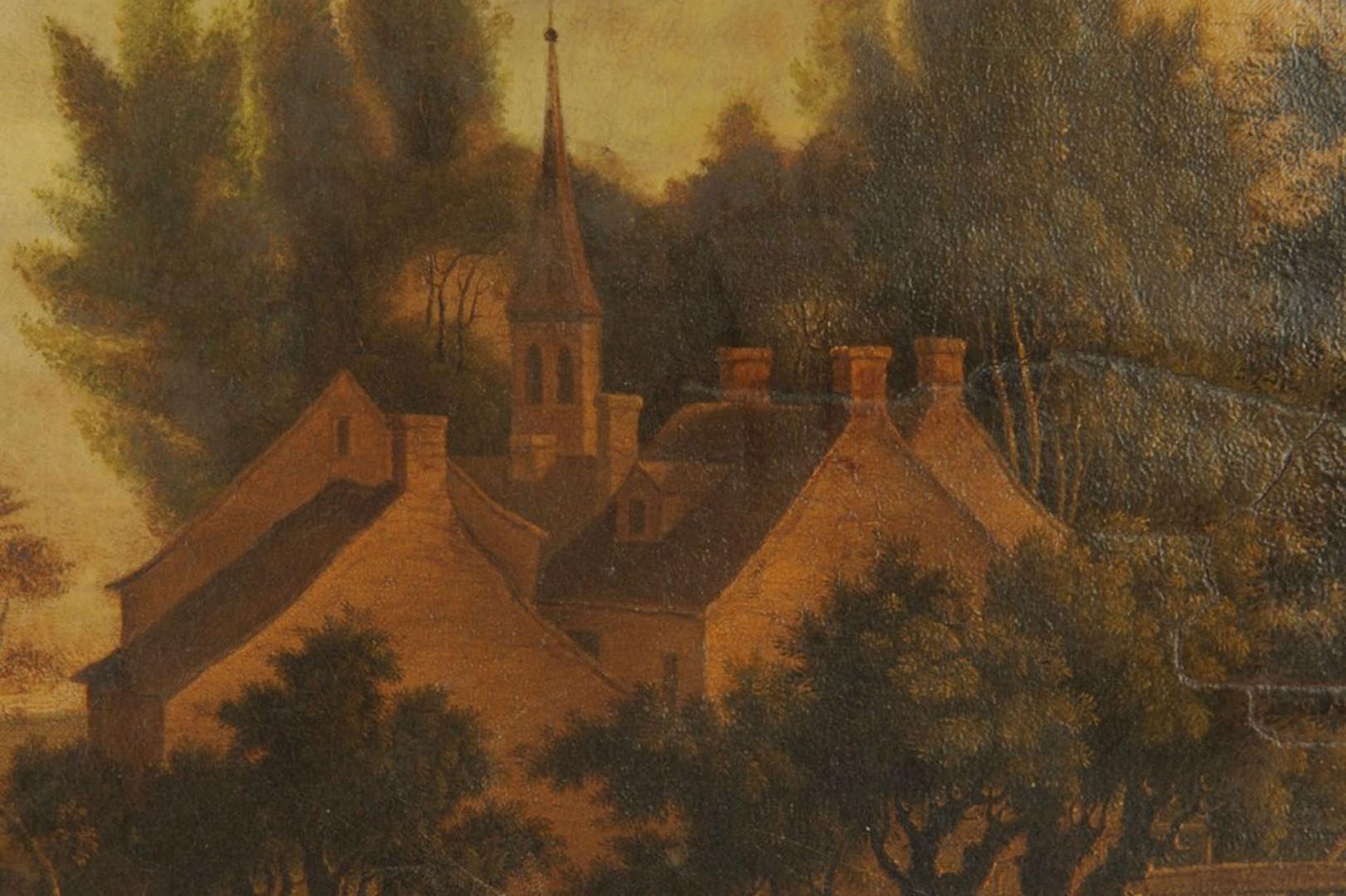 Lot 386: Dutch School European Landscape