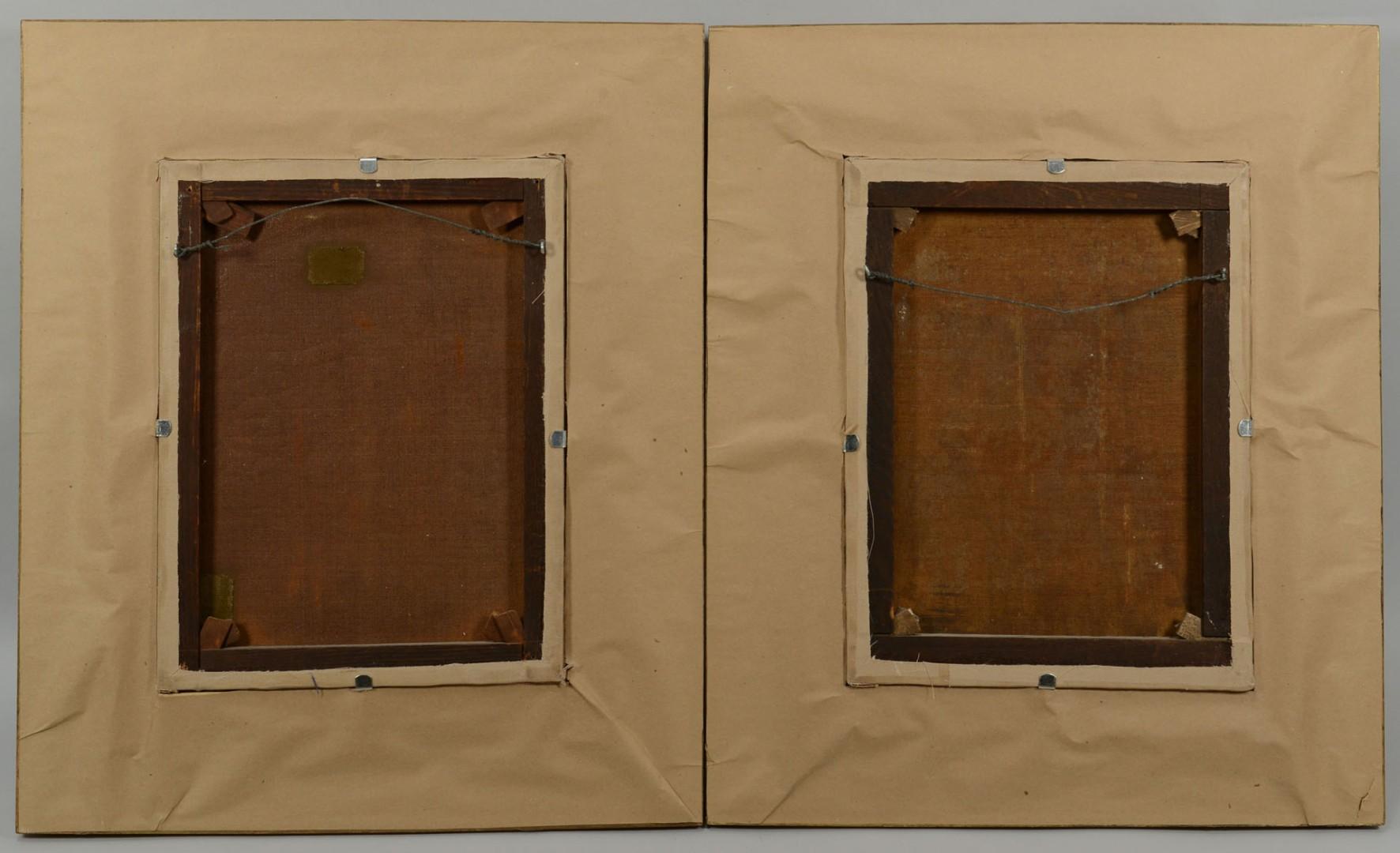 19th c. Orientalist School Pair Female Portraits