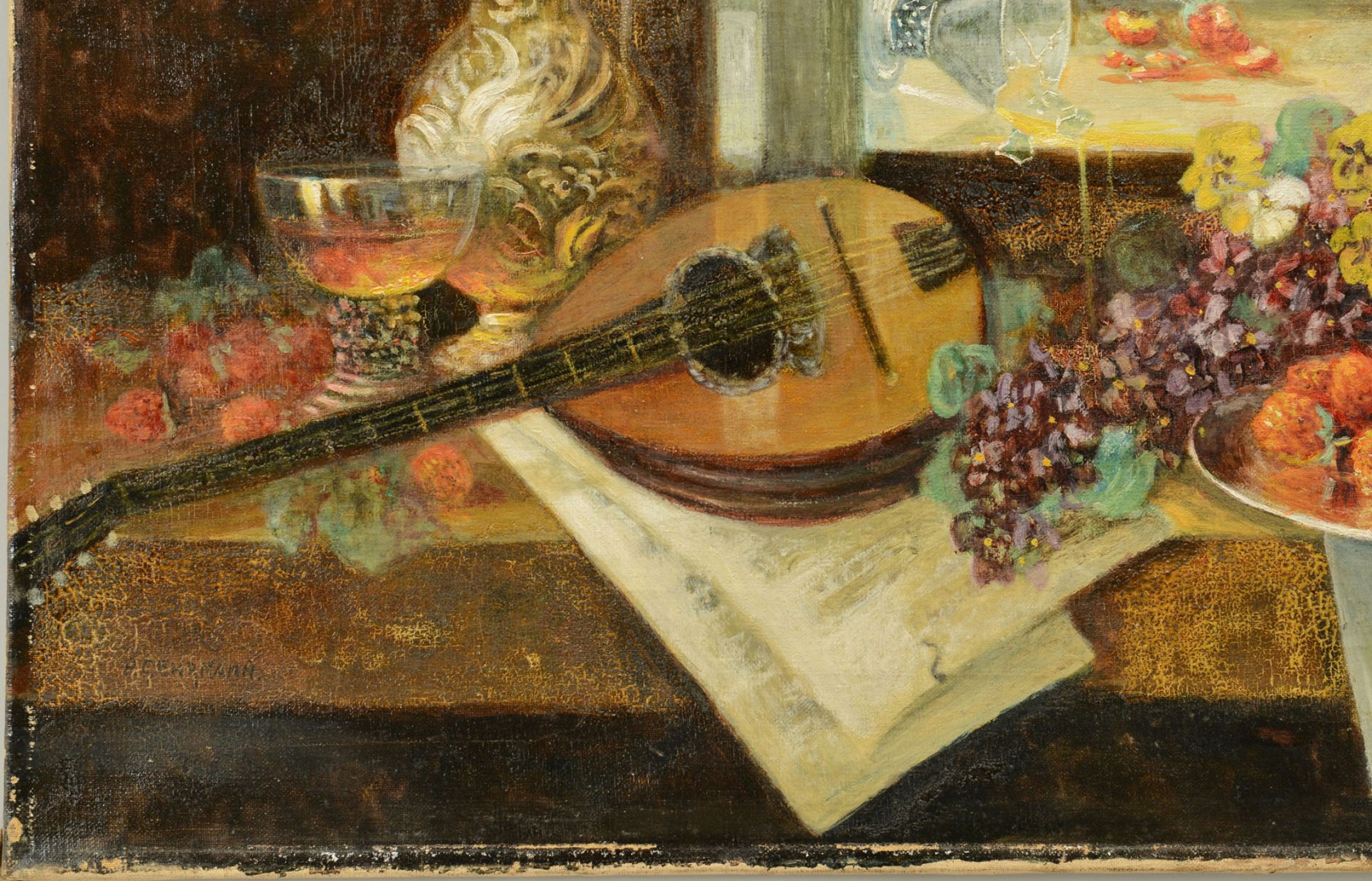 Lot 388: Paul Gehrmann, Still Life, Oil on Canvas