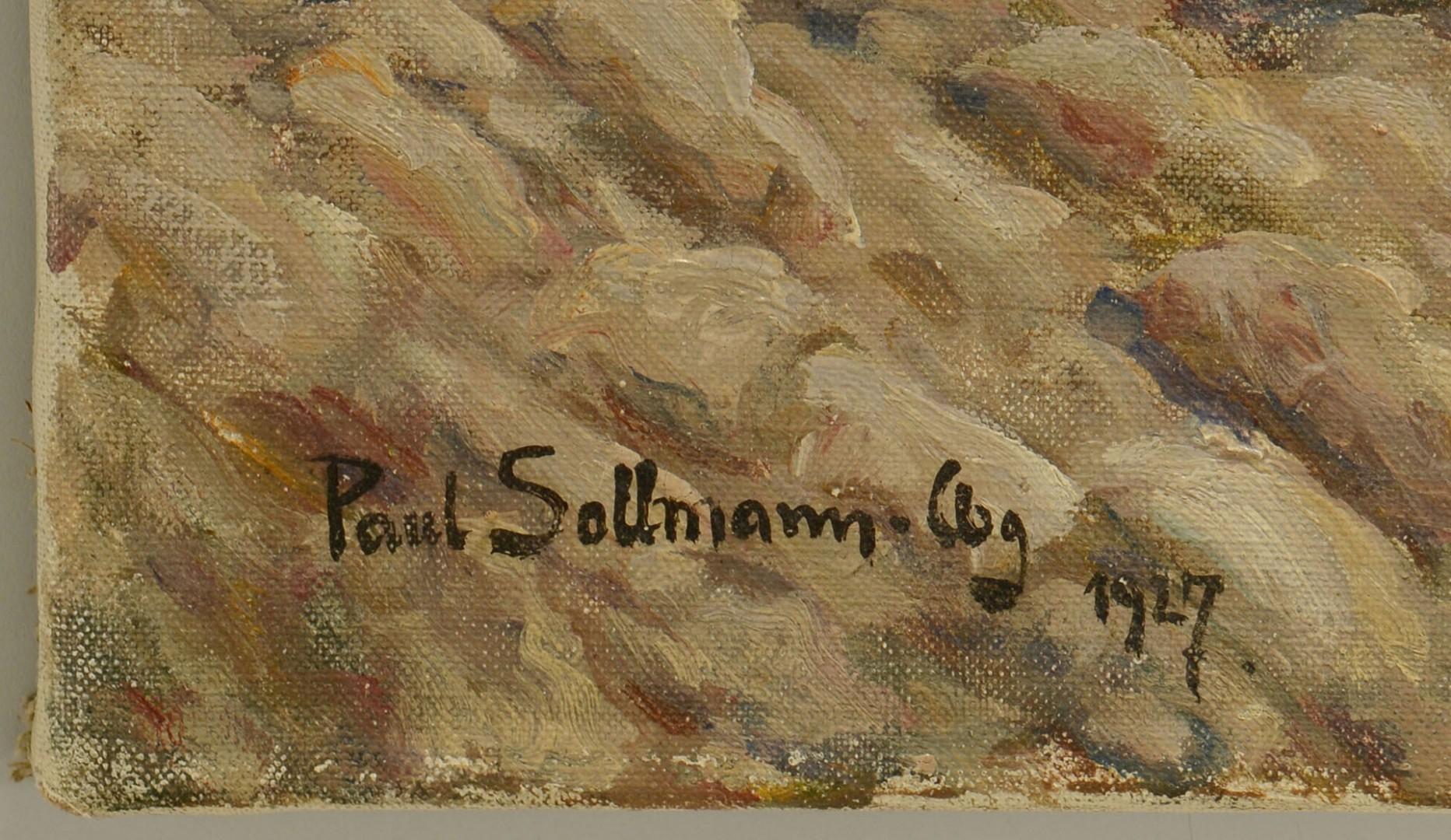 Lot 390: Paul Sollmann, Oil on Canvas, Spanish Courtyard