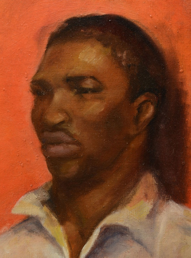 Oil on Canvas Portrait of a Black Man