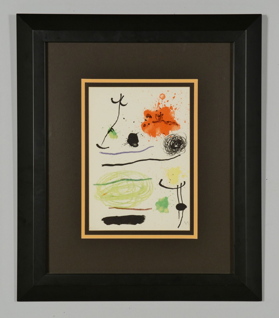 Lot 392: Joan Miro Lithograph, Barcelona Suite I