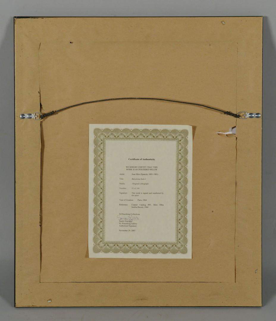 Lot 392: Joan Miro Lithograph, Barcelona Suite I