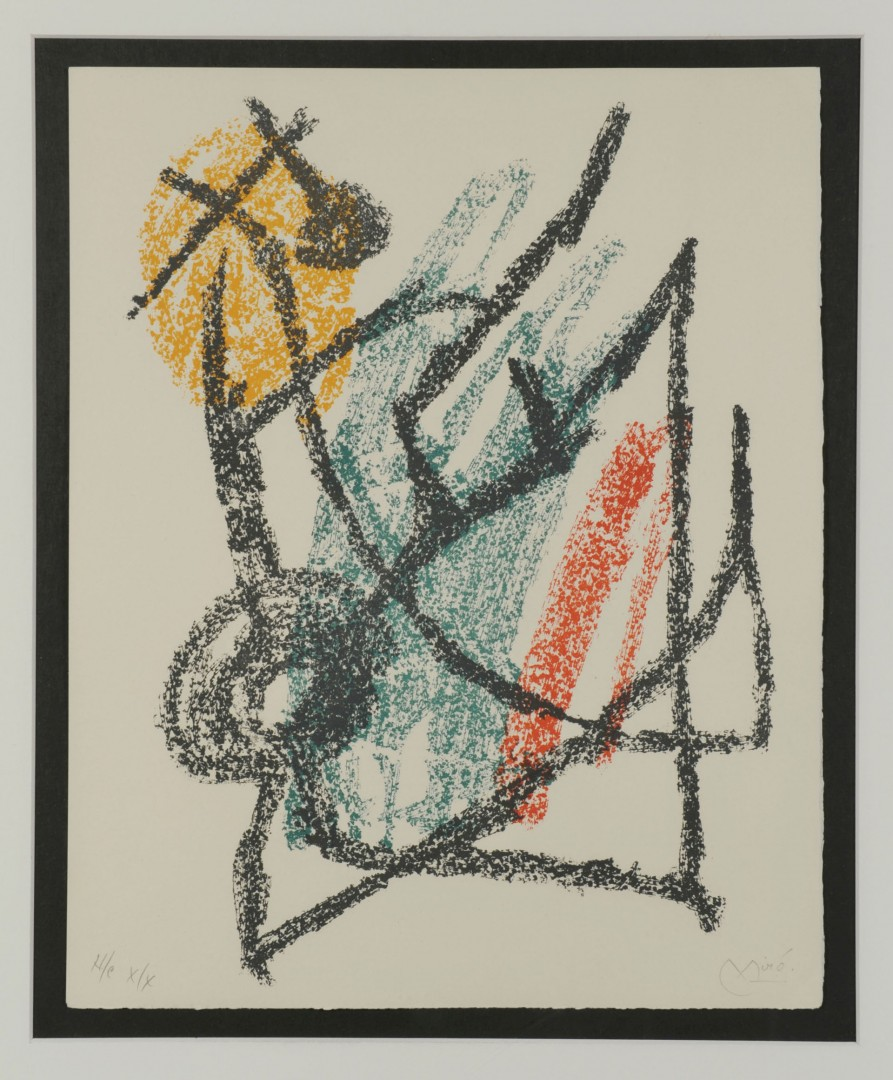 Lot 393: Joan Miro Lithograph, Composition V