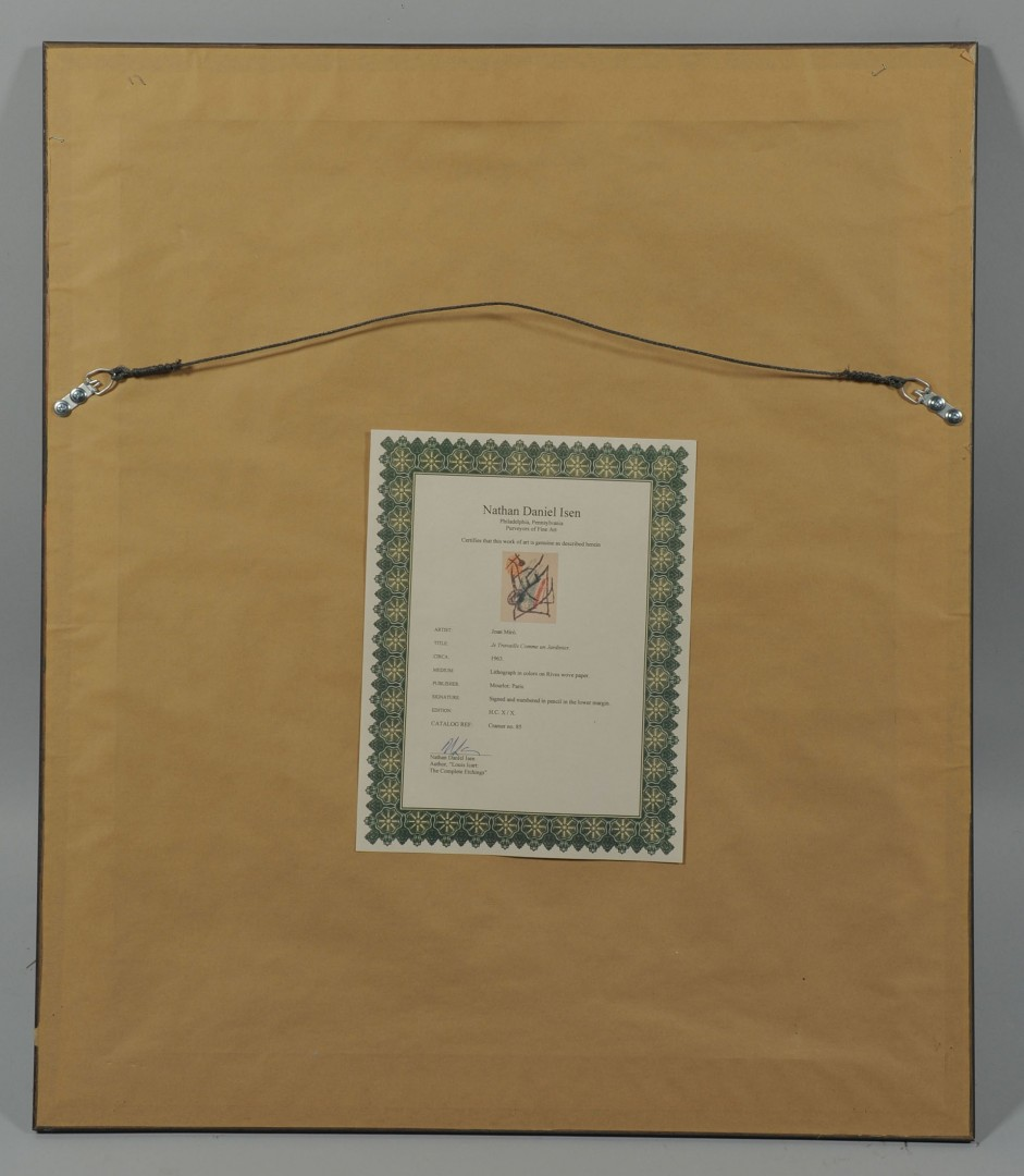 Joan Miro Lithograph, Composition V