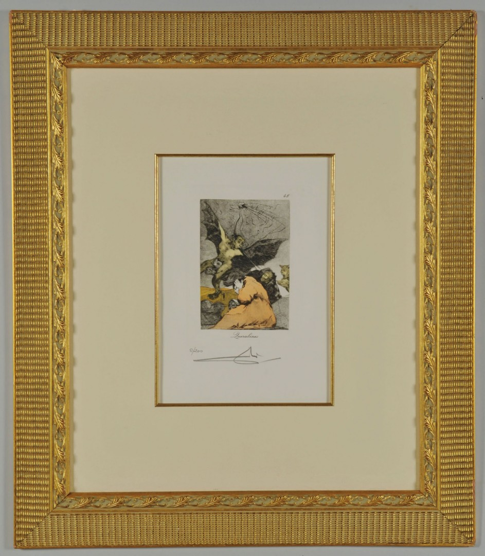 Lot 394: Salvador Dali Etching & Aquatint, Querubines