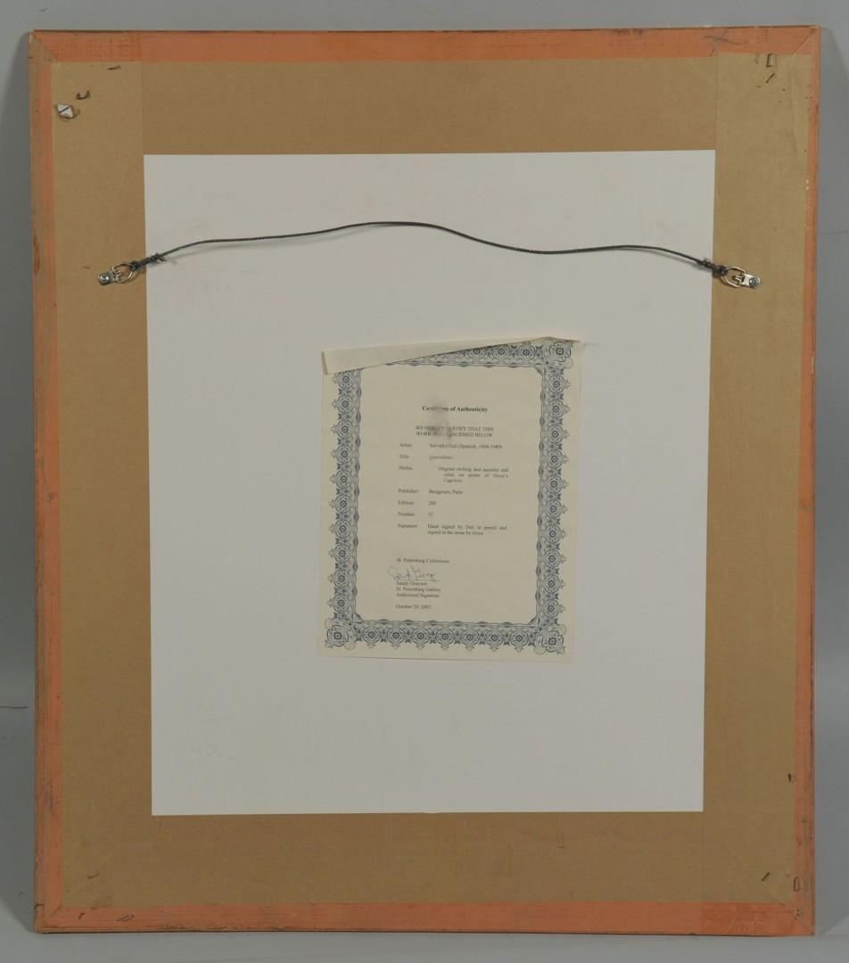 Lot 394: Salvador Dali Etching & Aquatint, Querubines