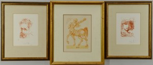 Lot 395: 2 Dali Etchings and 1 Dali Woodblock, total 3