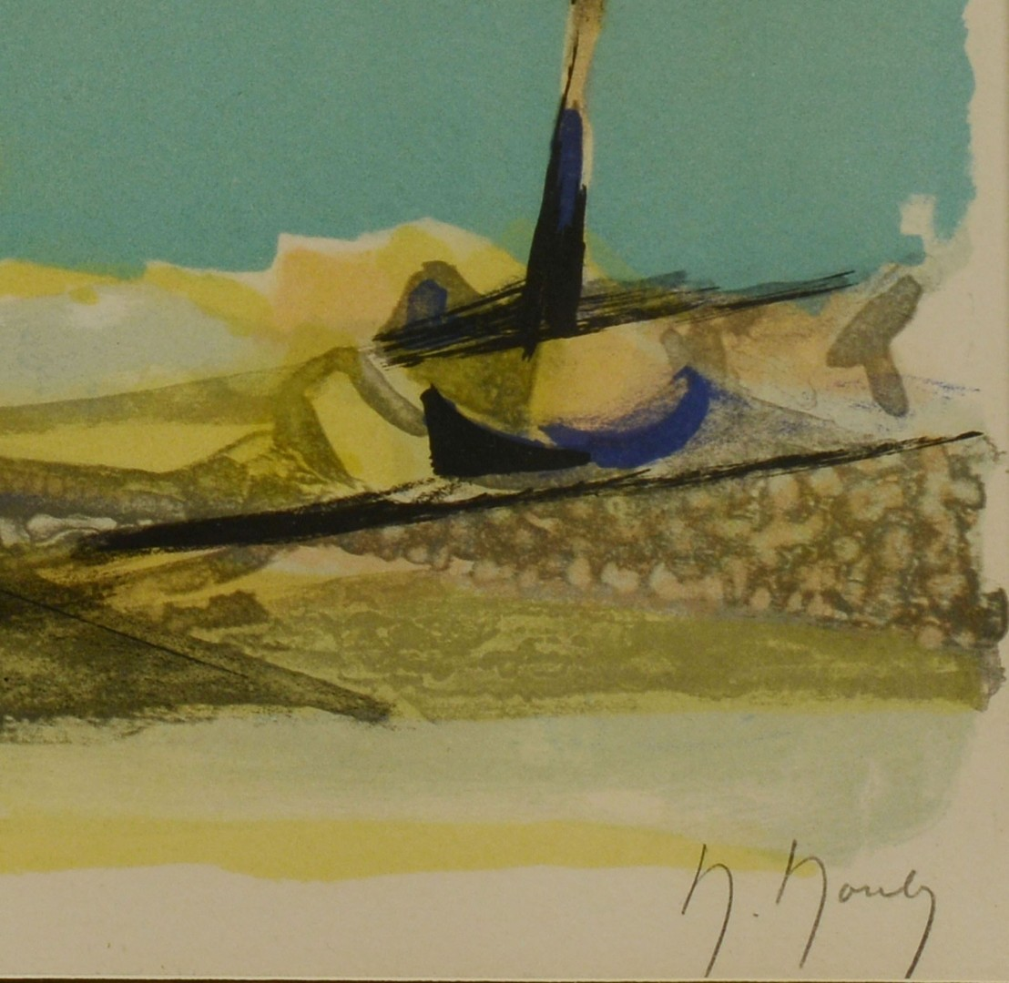 Lot 399: Marcel Mouly lithograph, Marine View Brittany