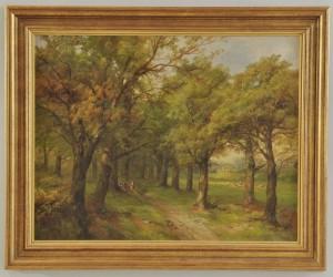 Lot 39: John Holding, 19th c. oil on canvas landscape