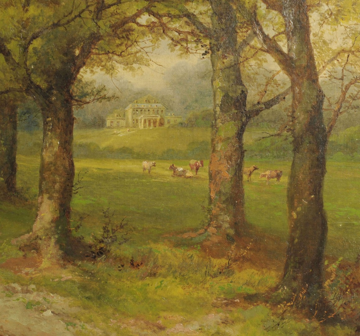 John Holding, 19th c. oil on canvas landscape