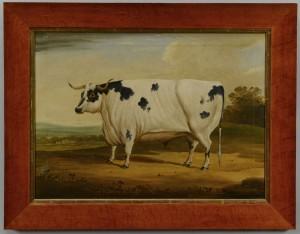 Lot 40: English school, 19th century, Prize Bull Painting