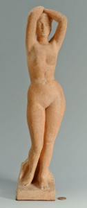 Lot 410: Milo Martin Terracota Nude Figure