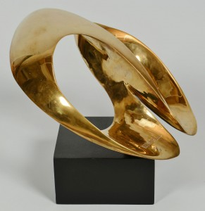 Lot 412: Leonardo Nierman Abstract Bronze Sculpture